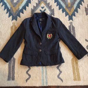 American eagle grey jacket/blazer with emblem